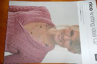 RICO KNITTING IDEAS 2 - knitting pattern book for essential cotton dk - 7 design